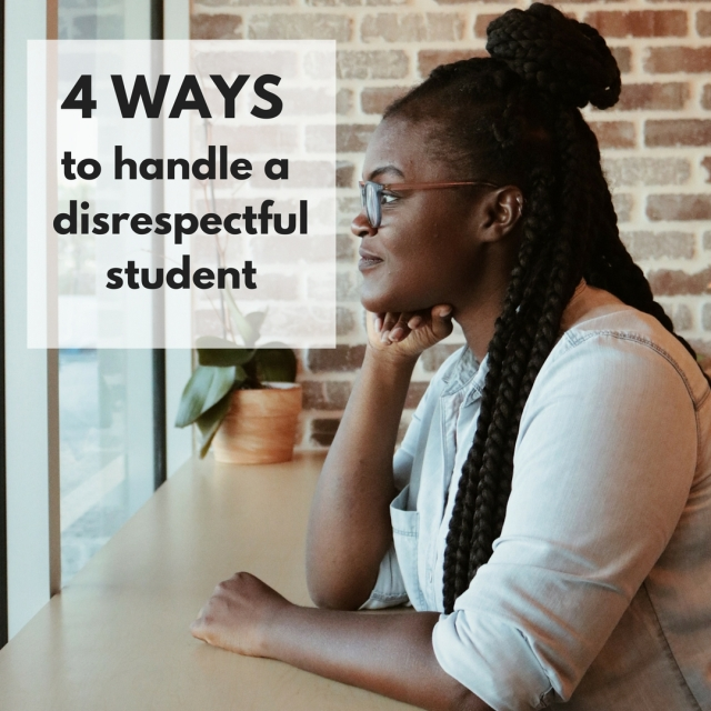 4 ways to handle a disrespectful student Blog icon