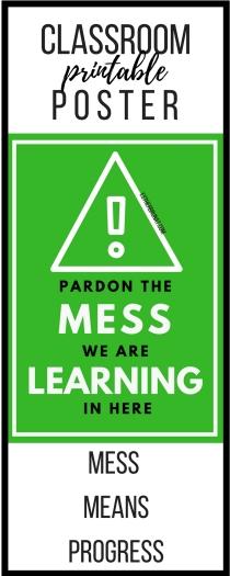Pardon the mess class poster 1