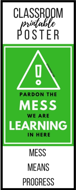 Pardon the mess class poster 1