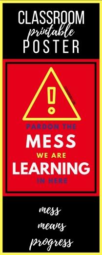 Pardon the mess class poster 2