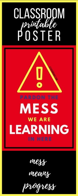 Pardon the mess class poster 2