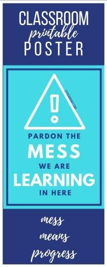 Pardon the mess class poster 3