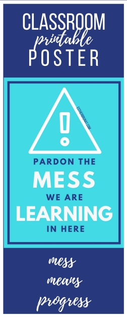Pardon the mess class poster 3