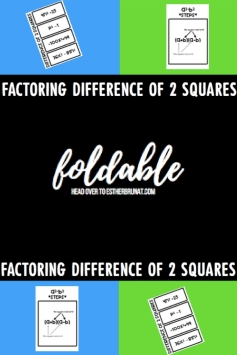 Difference of 2 Squares