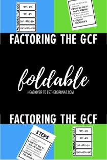 Factoring the GCF foldable