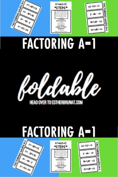 Factoring when a=1 foldable