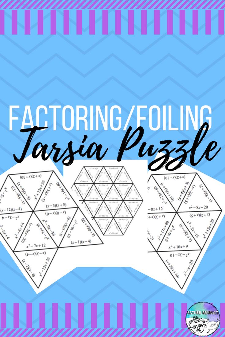 Factoring Foiling Tarsia Puzzle Pin